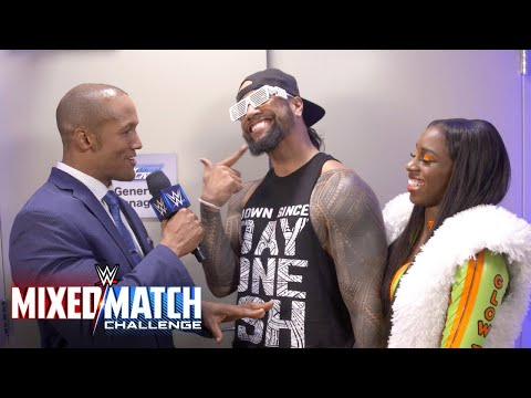 Jimmy Uso and Naomi celebrate being partners in life and now in the ring