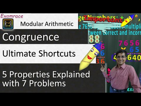Congruence (Modular Arithmetic) & 5 Properties Explained with 7 Problems: Ultimate Shortcuts