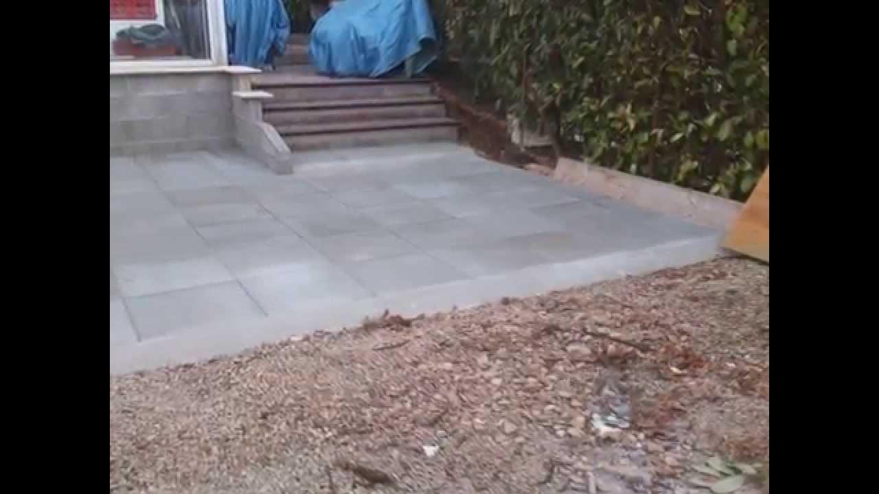Terrasse En Dalle Beton Sur Lit De Sable Youtube