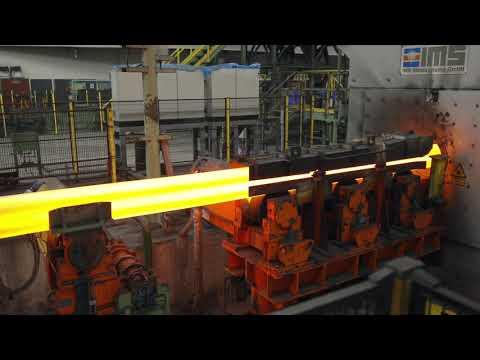 TenarisBayCity seamless pipe manufacturing process - YouTube