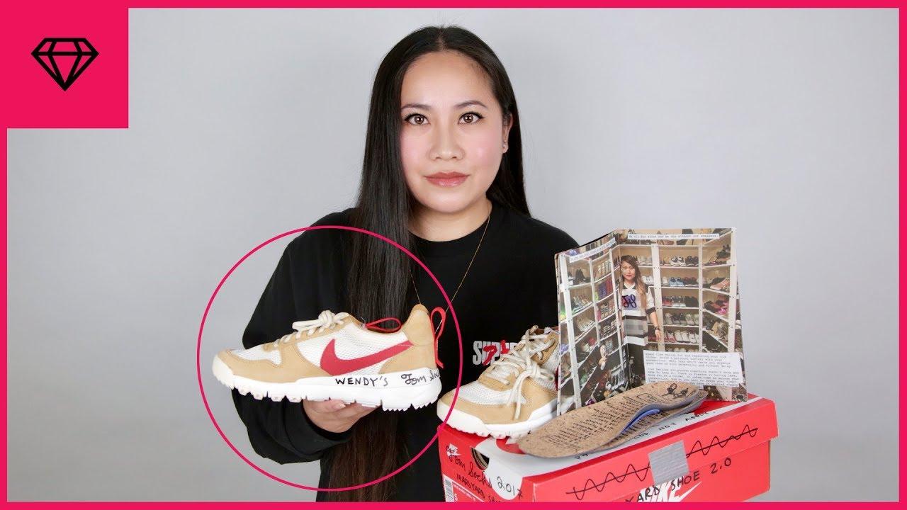 Tom Sachs Makes Me Rare Size 5 Nike Mars Yard 2.0 & Signed!   nitro:licious