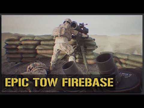 FIREPOWER FIREBASE! TOWS + MORTARS + HMGS (Ft. PhlyDaily) - v11 Squad Gameplay