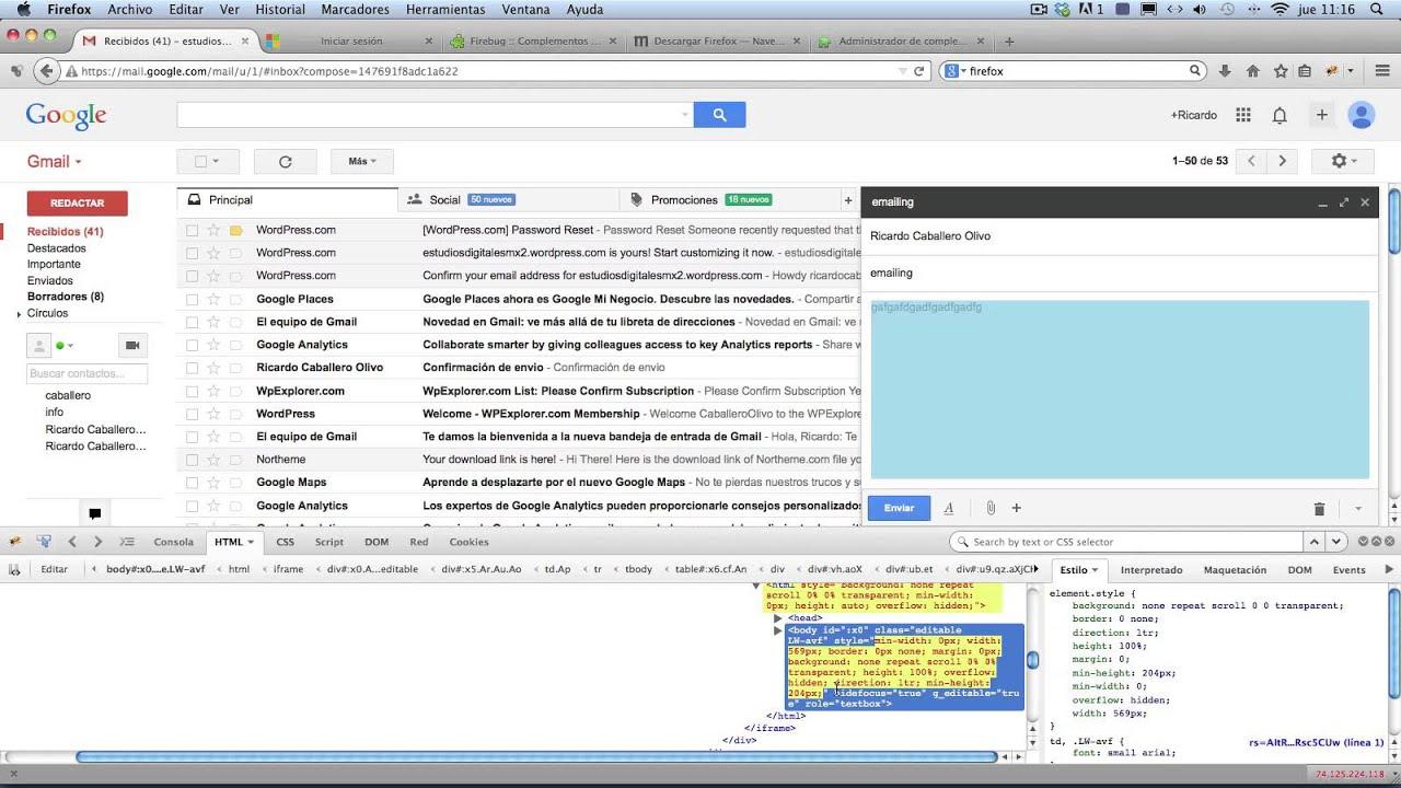 Redactar correo en HTML desde Gmail - YouTube