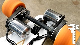 DIY 12s Monster Electric Skateboard Power-sliding and Drag Racing