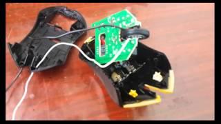 Переделка питания мышки с беспроводной в проводную!