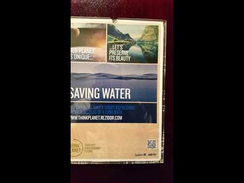 Our Planet is Unique Saving Water at Dubai Radisson Blu Hotel 19.04.2016