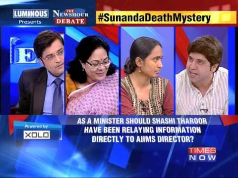 The Newshour Debate: Sunanda Pushkar's Death Mystery - Part 1 (2nd July 2014)