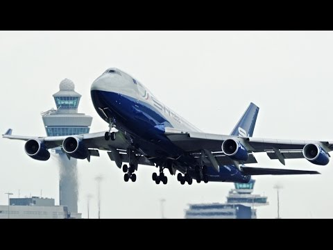 Silk Way Italia Boeing 747-400F [I-SWIA] Departing Amsterdam Schiphol Airport