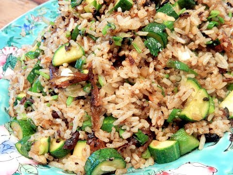 S2Ep36-Black Bean Dace Fried Rice with Zucchini 豆豉鯉魚青瓜炒飯