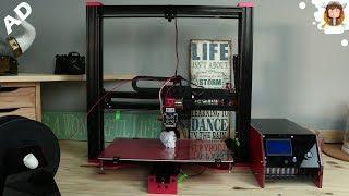Impressora 3D Black Widow - Imprimindo uma Caveira