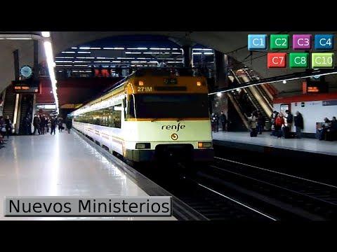Nuevos Ministerios C1 - C2 - C3 - C4 - C7 - C8 - C10 : Cercanías Madrid ( Renfe 446 - 449 - Civia )