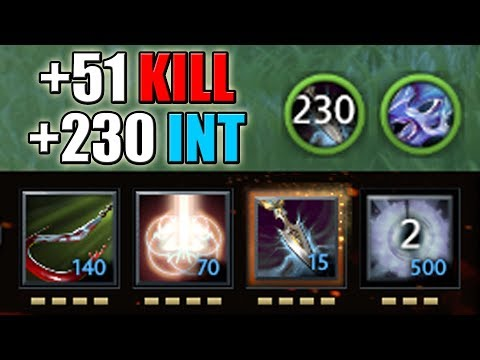 Super Smart 354 IQ Silencer [+230 Intelligence Stolen with Glaives of Wisdom] Dota 2 Ability Draft