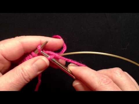 Casting on in the Round - Part 2: Two circular needles