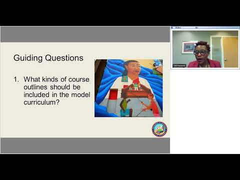 2020 Ethnic Studies Model Curriculum Public Input Hearing
