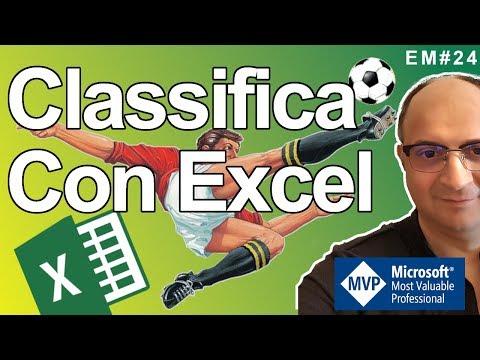 EM24 Serie A TIM Campionato Di Calcio Con Le Formule Di Excel