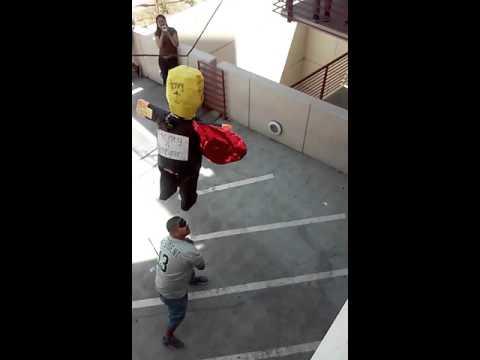 Donald Drumpf Piñata on East Los Angeles College Campus