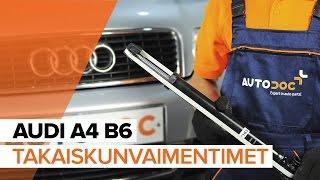 AUDI A4 (8E2, B6) Iskunvaimentimet asennus : ilmainen video