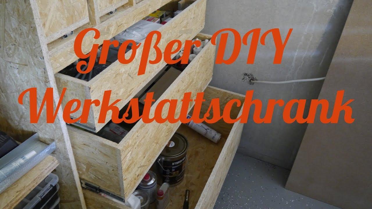 DIY großen Werkstattschrank aus OSB selber bauen deutsch ...