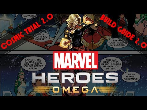 Marvel Heroes Omega: Captain Marvel Cosmic Trial & Build Guide 2.0