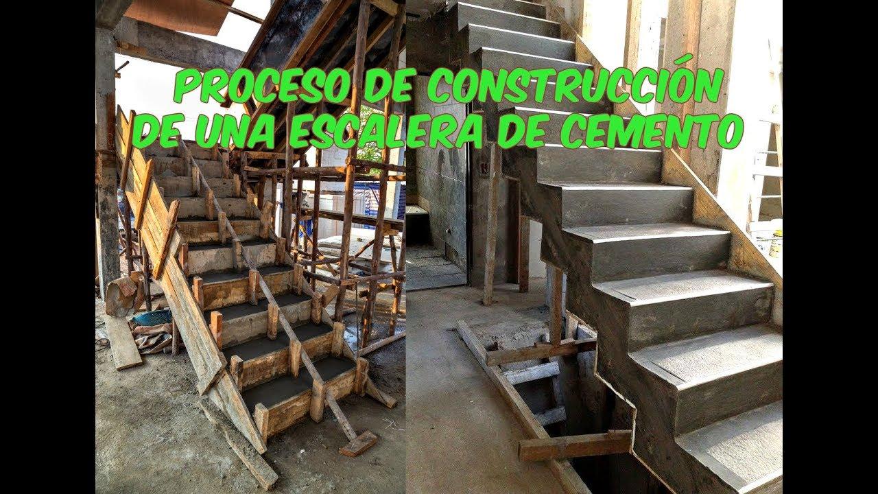 como hacer una escalera de cemento youtube