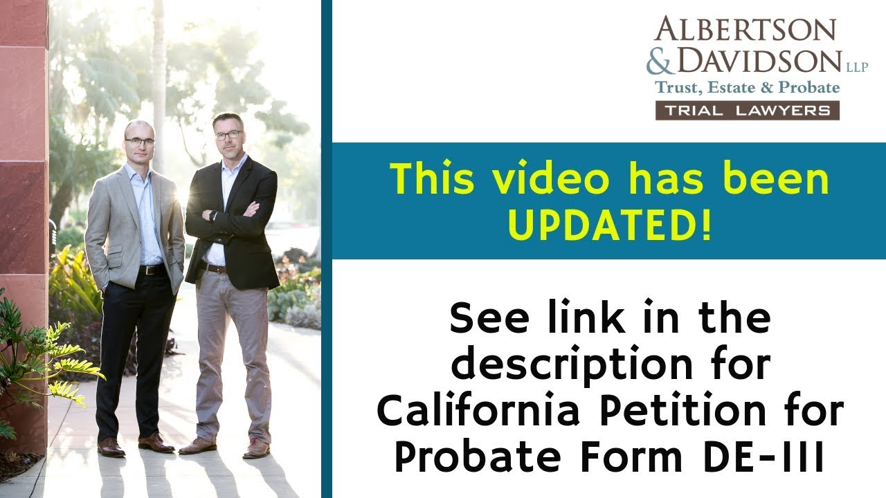 Petition for Probate -- See our Updated Version in Link Below