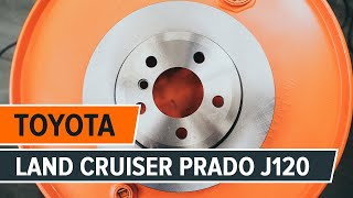 Jak vyměnit zadní brzdové kotouče a brzdové destičky na TOYOTA LAND CRUISER PRADO J120