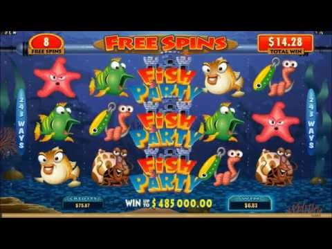 Fish Party slots Free Spins feature wins