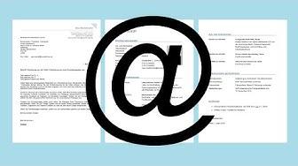 Bewerbung per E-Mail - einfach erklärt - die perfekte Email-Bewerbung [Tutorial]