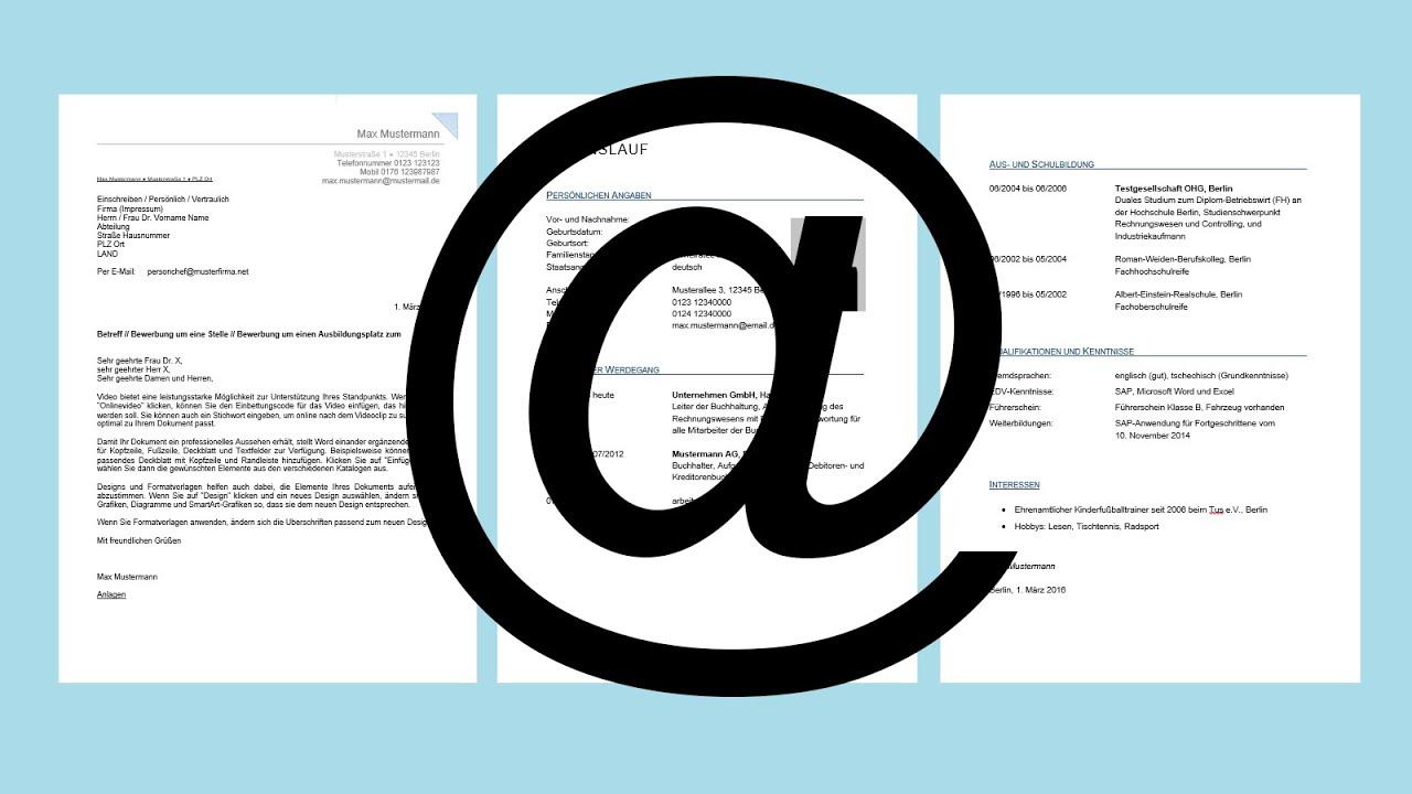bewerbung per e mail einfach erklrt die perfekte email bewerbung tutorial youtube - Bewerbung Per Email
