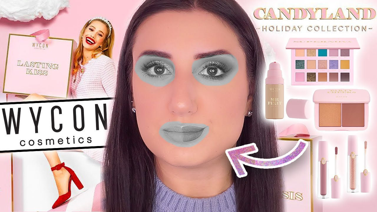 PROVO I TRUCCHI NATALIZI DI WYCON 100% ONESTA 🎅🏻 Candyland Holiday Collection 2020 🍬 🍭