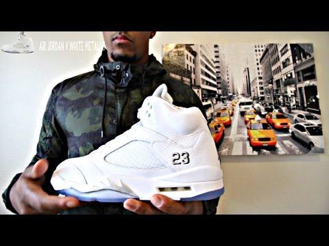 on sale 4163f be86f Nike Air Jordan Retro 5 White Metallic