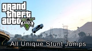 Gta Online All Unique Stunt Jump Locations Clear Map