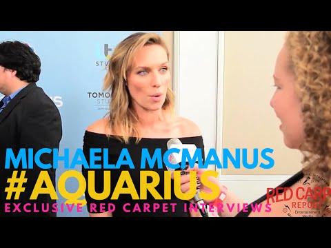 Michaela McManus Aquarius ed at the Season 2 premiere of NBC's crime drama AQUARIUS