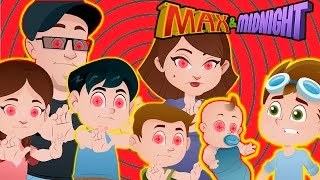 MIND CONTROL!!! FUNnel Vision Family turns against Max!!! For Kids! Max & Midnight Episode 4