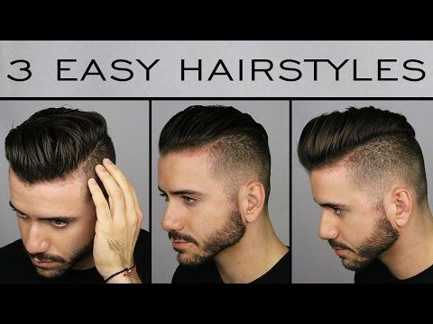 3 Quick & Easy Men's Hairstyles   Men's Hair Tutorial   ALEX COSTA