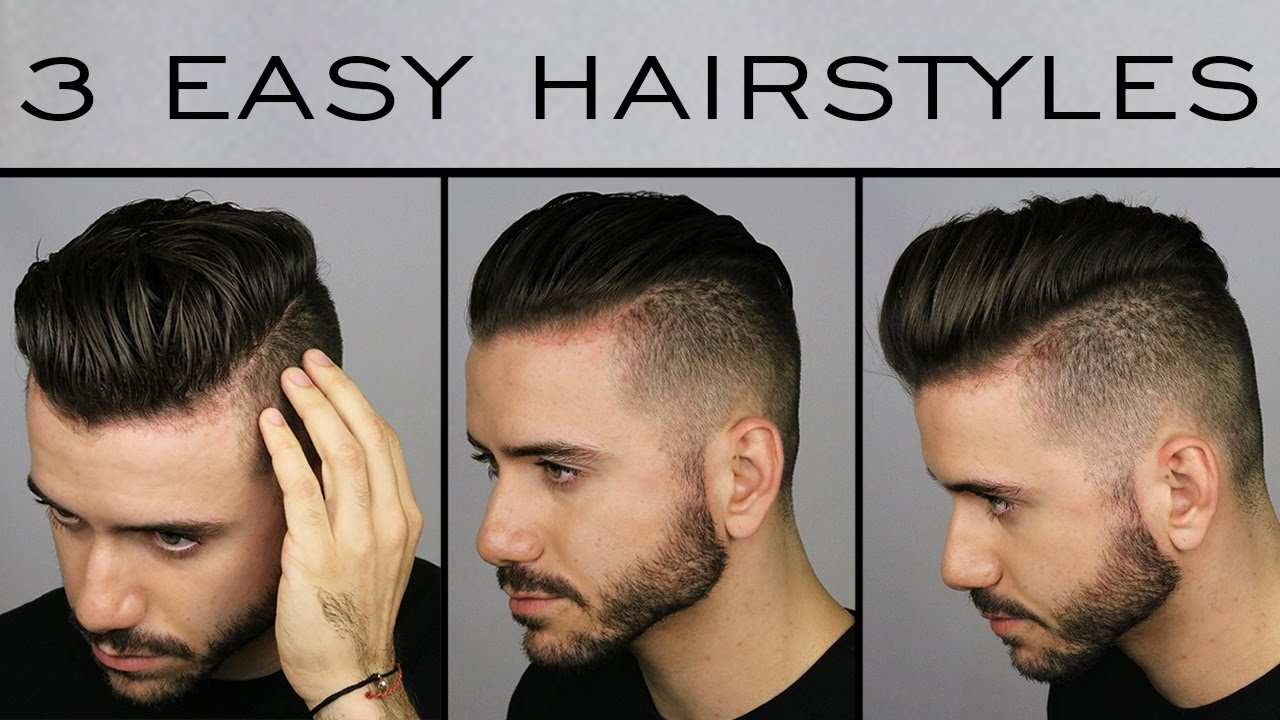 3 Quick Easy Mens Hairstyles Mens Hair Tutorial Alex Costa