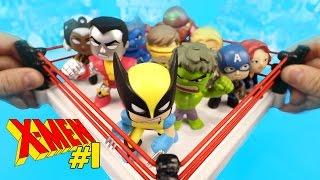 X-Men Shake Rumble #1 vs Avengers Toys & HULK + Superheroes Mystery Minis Unboxing