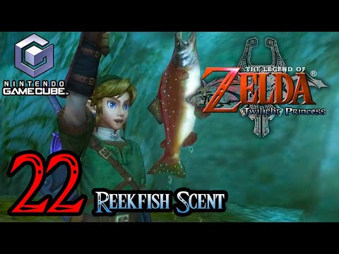 Zelda Twilight Princess HD Gamecube 100% Walkthrough Part 22 - How To Catch A Reekfish