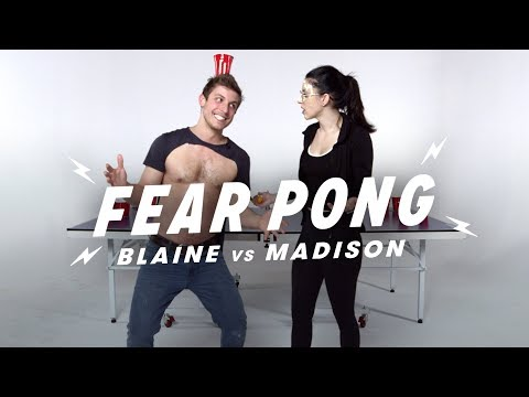 Siblings Play Fear Pong (Blaine vs. Madison) | Fear Pong | Cut