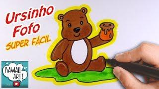 COMO DESENHAR E COLORIR URSINHO FOFO - HOW TO DRAW AND COLOR TEDDY BEAR