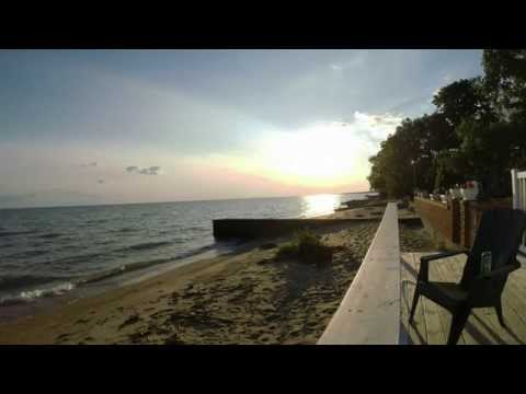 GoPro Sunset Time Lapse Of Beach House Rental LAKE ERIE