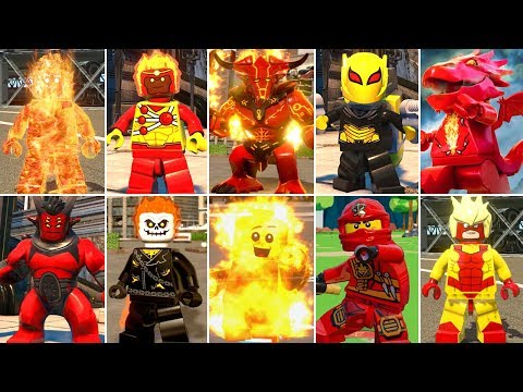 All Fire Characters In LEGO Videogames