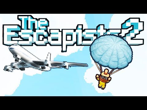 PARACHUTING From a PRISON AIRPLANE! - I Am Human Escape! - The Escapists 2 Gameplay