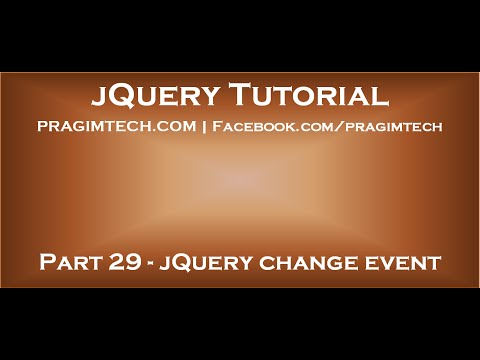JQuery Change Event