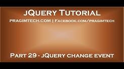 jQuery change event