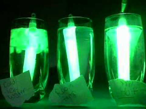 jodys glow stick science fair project - YouTube