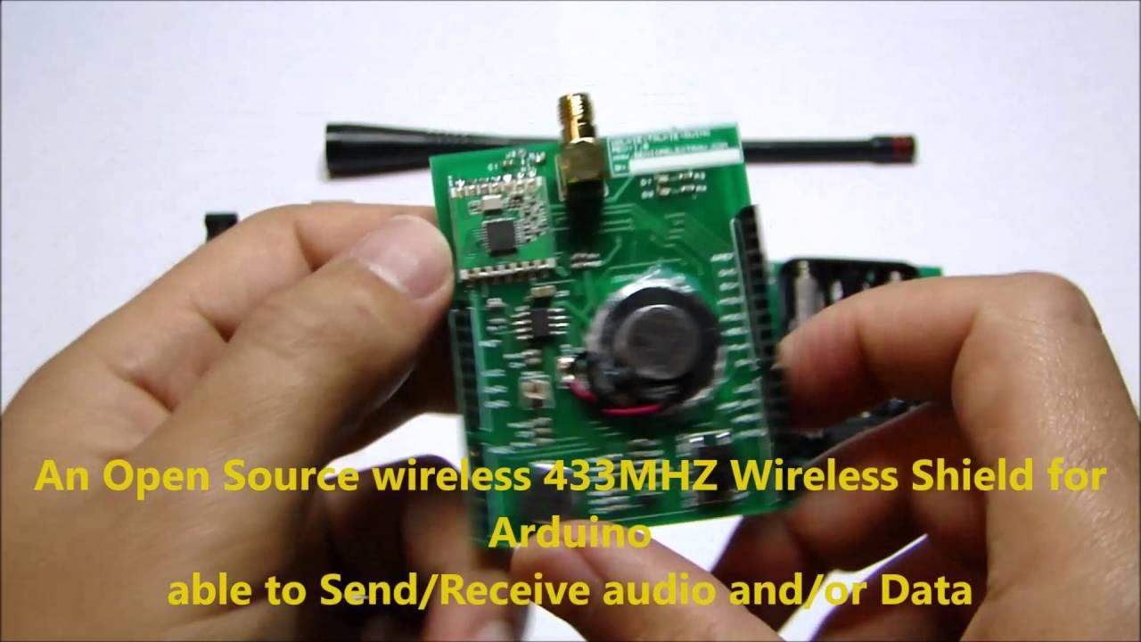 WalkieTalkieDuino Walkie talkie shield for Arduino based on RFM12