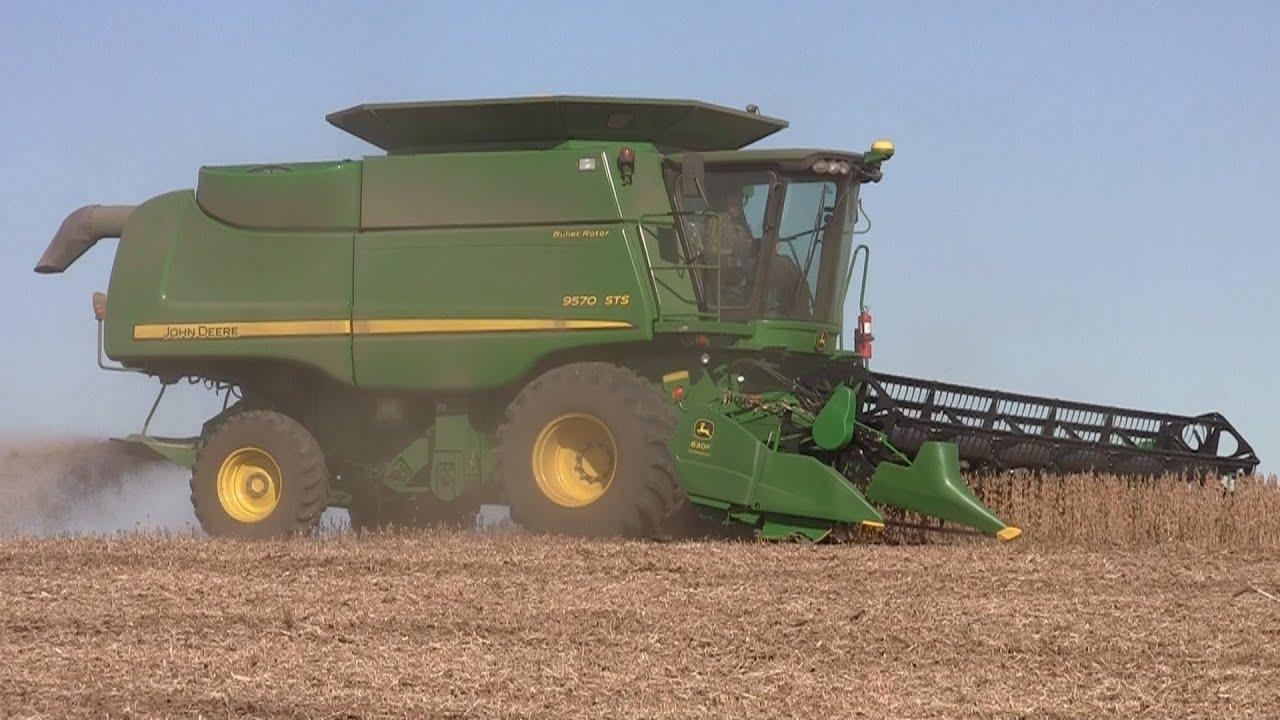 Strom Farms On Fisher Fields John Deere 9570 STS Combine 9 30 2012