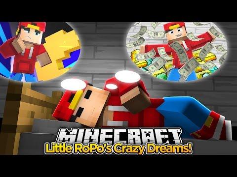 Minecraft Adventure - LITTLE ROPO HAS CRAZY DREAMS & NIGHTMARES!!!
