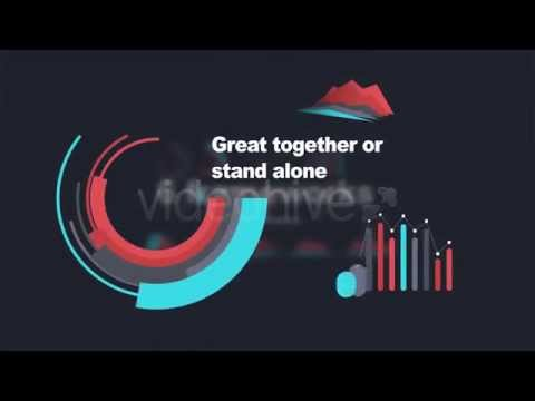 Flat Infographic Elements V1 After Effect Template - YouTube